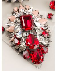 Shourouk | Red 'scarlette' Bib Necklace | Lyst