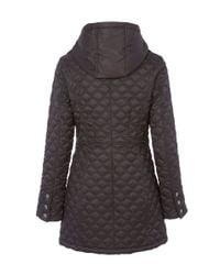 Dawn Levy - Gray Hooded Jacket With Zip Buttons - Lyst