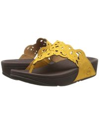 Fitflop | Yellow Flora™ (Nubuck) | Lyst