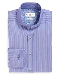 Robert Graham - Blue 'avio' Tailored Fit Stripe Dress Shirt for Men - Lyst