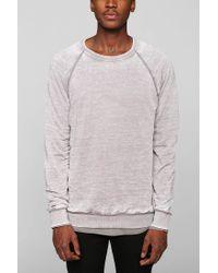 BDG - Gray Burnout Pullover Sweatshirt for Men - Lyst