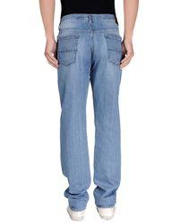 Fay - Blue Denim Trousers for Men - Lyst