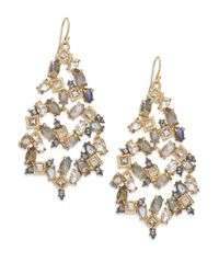Alexis Bittar | Metallic Elements Punk Labradorite & Crystal Confetti Chandelier Earrings | Lyst