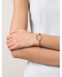 Ileana Makri - Pink Brown Diamond Embellished Loop Bracelet - Lyst