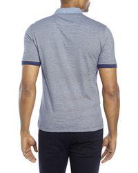 Original Penguin - Blue Heritage Slim Fit Stripe Polo for Men - Lyst