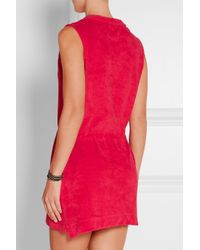 Orlebar Brown - Red Sanremo Cotton-Terry Dress - Lyst