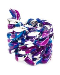 Gemma Redux | Blue Large Chain Ring | Lyst
