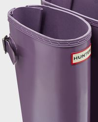 HUNTER - Purple Women's Original Adjustable Gloss Rain Boots - Lyst