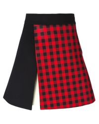 Fausto Puglisi - Red Panelled A-line Skirt - Lyst