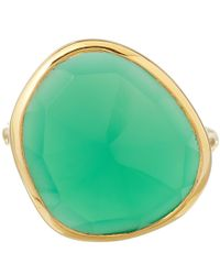 Monica Vinader | Metallic Large Green Onyx Siren Ring | Lyst