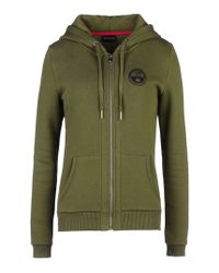 Napapijri | Green Full Zip Ls Fleece | Lyst