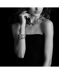 David Yurman - Cable Classics Bracelet with Green Onyx - Lyst