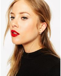 ASOS | Natural Limited Edition Heart Double Earrings | Lyst