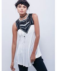 Free People - White Womens Warrior Babe Tunic - Lyst