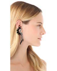 Elizabeth Cole - Black Fringe Mohawk Earrings - Jet - Lyst