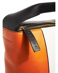 Marni - Orange Leather Pod Bag - Lyst