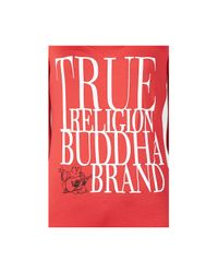 True Religion | Red Hand Picked Scoopneck Womens T-shirt | Lyst
