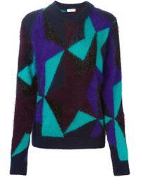 Vionnet - Purple Star Intarsia Sweater - Lyst