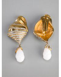 Valentino - Metallic Drop Shell Earring - Lyst