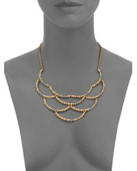 Alexis Bittar - Metallic Elements Gilded Muse D'Ore Crystal Spiky Scalloped Bib Necklace - Lyst