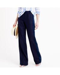 J.Crew - Blue Collection Tuxedo-striped Linen Pant - Lyst