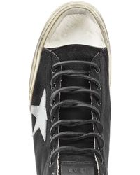 Golden Goose Deluxe Brand - Blue V-star 1 High-top Sneakers With Leather for Men - Lyst