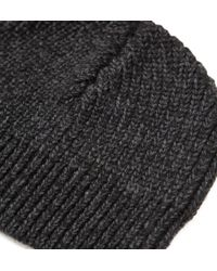 Onassis Clothing | Black Cashfeel Beanie for Men | Lyst