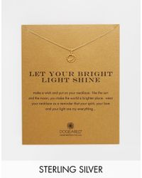 Dogeared | Metallic Gold Plated Let Your Bright Light Shine Reminder Necklace | Lyst