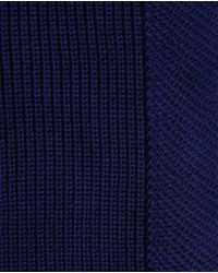 Ted Baker - Blue Half Cardigan Stitch Scarf for Men - Lyst
