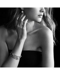 David Yurman | Metallic Cable Drop Earrings With Diamonds | Lyst