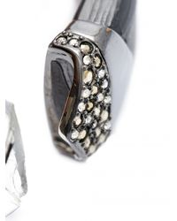 Alexis Bittar | Black Chevron Section Hinge Bracelet | Lyst