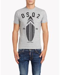 DSquared²   Gray Chic Dan Fit T-shirt for Men   Lyst