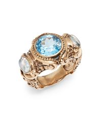 Stephen Dweck | Metallic Threestone Scroll Ring | Lyst