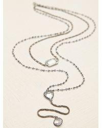 Free People   Metallic Serefina Womens Vintage Deco Heart Rosary   Lyst