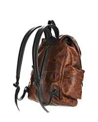 Alexander Wang - Brown Marti Backpack In Distressed Sandstorm With Matte Black for Men - Lyst