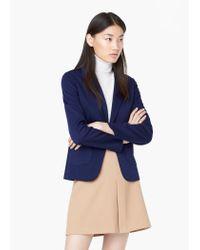 Mango - Blue Soft Fabric Blazer - Lyst