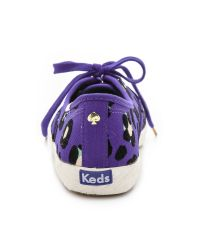 kate spade new york - Purple Keds For Kate Spade Pointer Cheetah Sneakers - Cyber Orange - Lyst