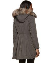Moncler | Green Down Arriette Coat | Lyst