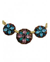 Matthew Williamson   Green Floral Charm Necklace   Lyst