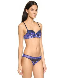 Stella McCartney | Purple Ellie Leaping Contour Balconnet Bra - Cotton Flower Print | Lyst