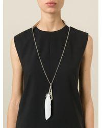 Ann Demeulemeester   Metallic Feather Necklace   Lyst