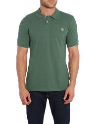 Paul Smith | Green Zebra Regular Fit Logo Polo for Men | Lyst