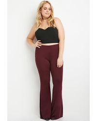 Forever 21 | Purple Flared Knit Pants | Lyst