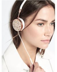 BaubleBar - Metallic Frends X Shatter + Fortuna Layla Headphone Cap Set-white - Lyst