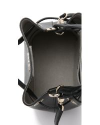 Furla | Black Stacy Mini Drawstring Bucket Bag | Lyst