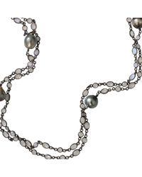 Jordan Alexander | Metallic Tahitian Pearl And Moonstone Necklace | Lyst