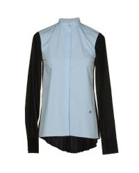 10 Crosby Derek Lam | Blue Long Sleeve Shirt | Lyst