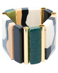 Marni - Natural Beige Resin And Pyrite Bracelet - Lyst