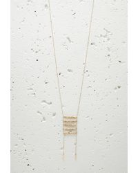 Forever 21 | Metallic Longline Ladder Tassel Necklace | Lyst