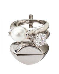 Maison Margiela | Multicolor Multi Four Rings Silver | Lyst